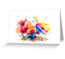"""Watercolor Garden"" Greeting Card"