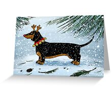 A Very Dachsie Christmas Greeting Card