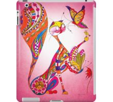"""A cat playing with butterflies"" iPad Case/Skin"