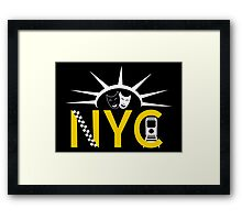 NYC icons collage Framed Print