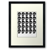Black Skulls  Framed Print
