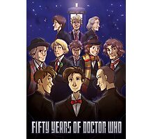 50 Years of Doctor Who Photographic Print