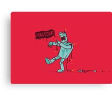 Zombie Robot Canvas Print
