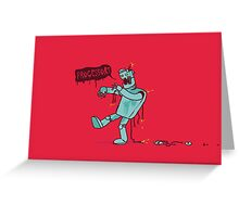 Zombie Robot Greeting Card