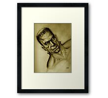 FRANKENSTEIN BROWN Framed Print