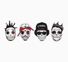 RIP MC's - Gangsta Rapper Sugar Skulls by howieloots