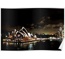 Opera House At Night Poster