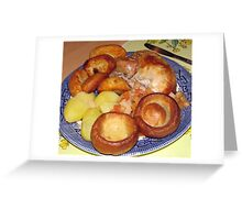 Roast Chicken Dinner with Yorkshire Puddings Greeting Card