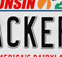License Plate - PACKERS Sticker