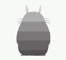 My Ombre Totoro (linen white) by CanisPicta
