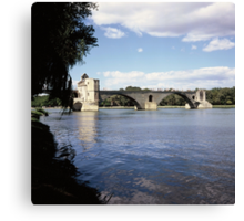 Le Pont D'Avignon, France Canvas Print