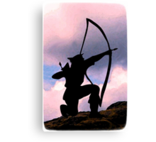 Dedicated to archery Canvas Print