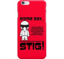 The Stig - No understanding of Clouds iPhone Case/Skin
