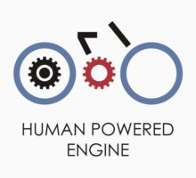 Human Powered Engine Black by Oomazing