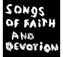 Depeche Mode : Paint of Song Of Faith and Devotion - Only Title Photographic Print