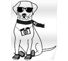 Hipster Labrador - Cute Dog Cartoon Character Poster