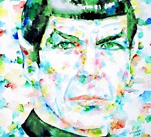 MISTER SPOCK - watercolor portrait by lautir