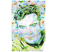 JAMES T. KIRK - watercolor portrait Poster