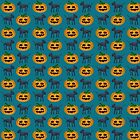 Black Cat and Halloween Pumpkin Pattern  by ibadishi