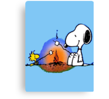Snoopy and Woodstock ! Canvas Print
