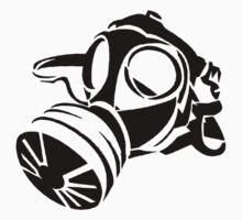 Gas Mask Stencil  by GregWR