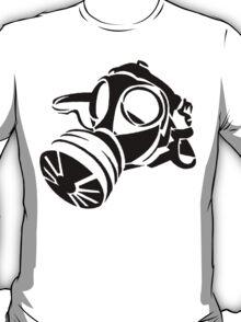 Gas Mask Stencil  T-Shirt