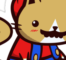 It's-a-me! Meow-rio! (Text ver.) Sticker