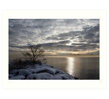 Lakeside Silver – Winter Morning Light Art Print