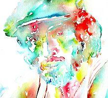 BRUCE SPRINGSTEEN - watercolor portrait by lautir