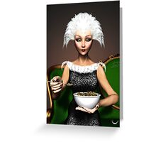 Strictly vegetarian - the bird woman Greeting Card