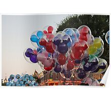 Disney Balloons Poster
