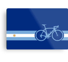 Bike Stripes Argentina Metal Print