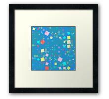 Squares mosaic Framed Print