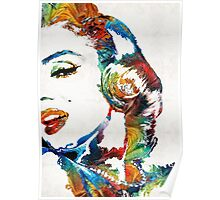 Marilyn Monroe Painting - Bombshell - By Sharon Cummings Poster