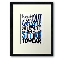 "This Charming Man The Smiths Color ""I Would Go Out Tonight But I Haven't Got a Stitch to Wear"" Typography Quote Indie Framed Print"