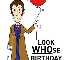A Tenth Doctor Who themed Birthday Card  by mjfouldes