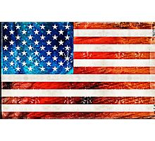 American Flag Art - Old Glory - By Sharon Cummings Photographic Print