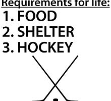 Food Shelter Hockey by kwg2200