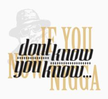 If you dont know now you know by okclothing