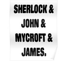 Sherlock, John, Mycroft, James Poster