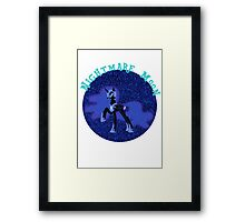 NightmareMoonGlitter Framed Print