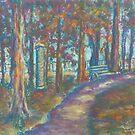 Autumn Path (pastel) by Niki Hilsabeck