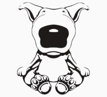 English Bull Terrier Sit Design by Sookiesooker