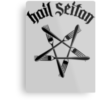 Hail Seitan 1.2 (black) Metal Print