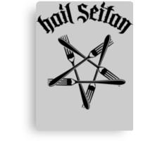 Hail Seitan 1.2 (black) Canvas Print