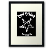 Hail Seitan 1.1 (white) Framed Print