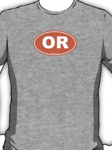 Oregon OR Euro Oval ORANGE T-Shirt