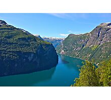Views: 6891. Earth Wonders -  the Gerianger Fjord . Møre og Romsdal . Norway . by Doctor Andrzej Goszcz.  Photographic Print
