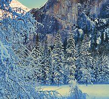 WINTER,MERCED RIVER by Chuck Wickham