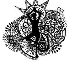 """""""Namaste"""" Yoga Doodle by alexavec"""